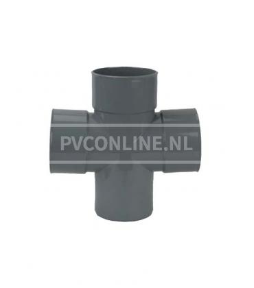 PVC Dubbel T-stuk 3 X LM/S 90*