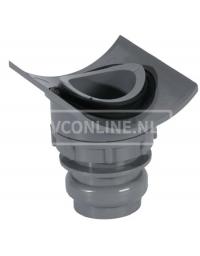 PVC KLEMZADEL 110 X 40 (let op! Gat boren 57 mm)