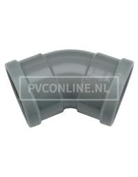 PVC BOCHT 2 X MA 110 45*