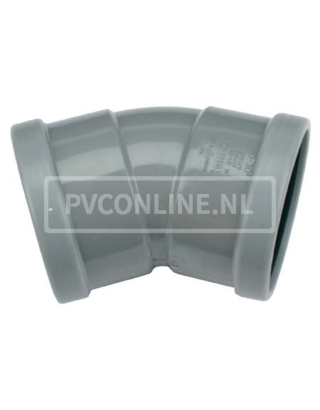 PVC BOCHT 2 X MA 110 30*