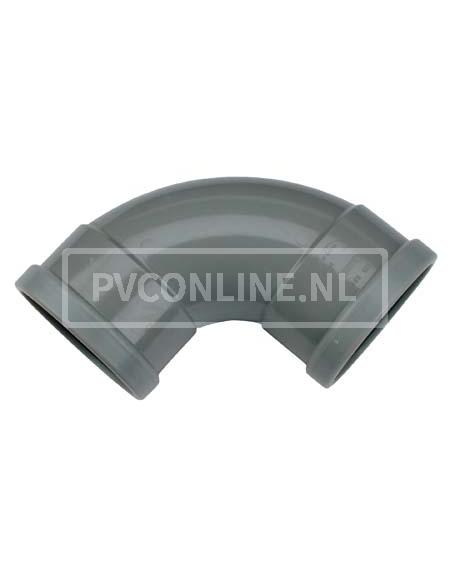 PVC BOCHT 2 X MA 110 90*