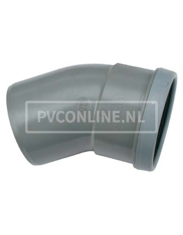 PVC BOCHT 1 X MA/S 110 15*