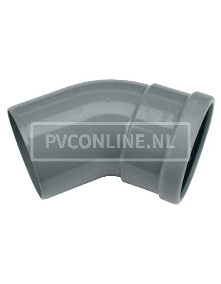 PVC BOCHT 1 X MA/S 110 45*