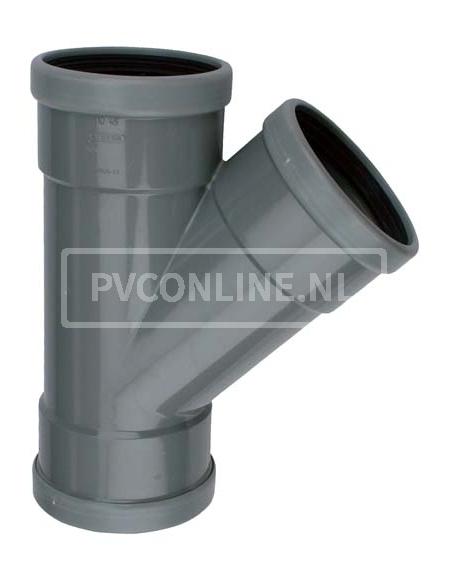 PVC T-STUK 3 X MA 110 X 110 45*