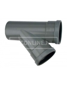 PVC T-STUK 2 X MA/S 110 X 110 45*