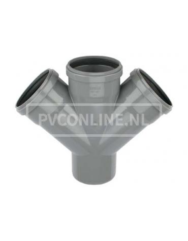 PVC DUBBEL T-STUK 3 X MA/S 110 45*