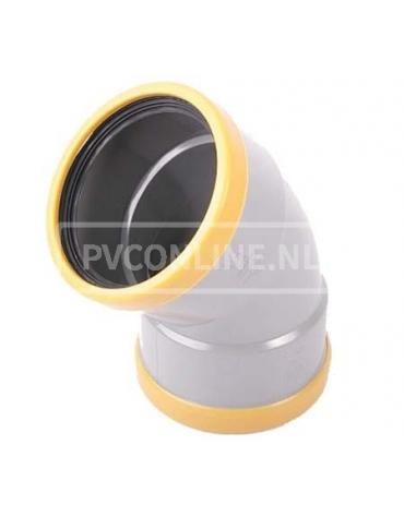 PVC BOCHT 2 X MA 125 SN 8 45*