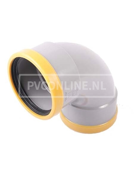 PVC BOCHT 2 X MA 125 SN 8 90*