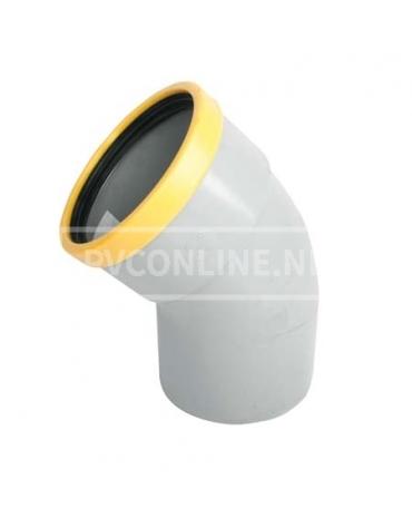 PVC BOCHT 1 X MA/S 125 SN 8 45*