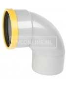PVC BOCHT 1 X MA/S 125 SN 8 90*