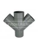 PVC DUBBEL T-STUK 3 X LM/S 110 45*