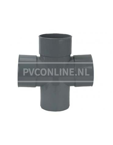PVC DUBBEL T-STUK 3 X LM/S 110 90*