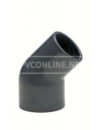 PVC KNIE SPIE 50-40 INW X 50 INW. 45* PN 10