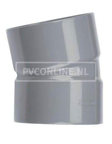 PVC BOCHT 2 X LM 110 15*