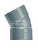 PVC BOCHT 2 X LM 110 30*