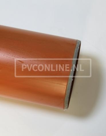 PVC AFVOERBUIS 110X3,2 SN 4/8 BRUIN LGT 5 MTR