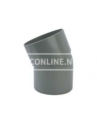 PVC BOCHT 1 X LM/S 75 22*