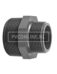 PVC DRAADNIPPEL 1/2 X 3/8 PN 16