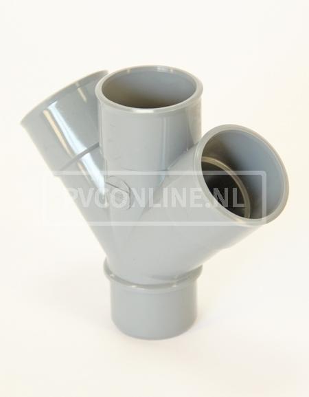 PVC DUBBEL T-STUK 3 X LM/S 40 45*