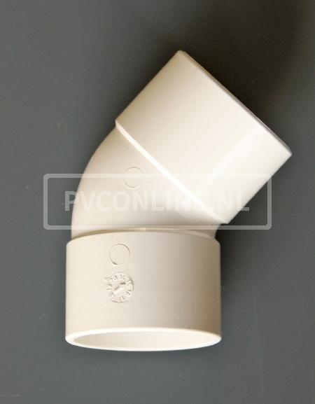 PVC BOCHT 2 X LM 32 45 WIT