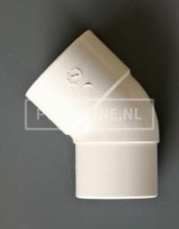 PVC BOCHT 1 X LM/S 32 45 WIT
