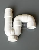 PVC UNIVERSEEL SIFON LIJMBAAR 32 WIT