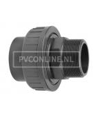 PVC KOPPELING 16 X 3/8 BUITENDRAAD PN16