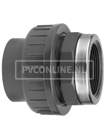 PVC KOPPELING 16 X 3/8 BINNENDRAAD PN 16
