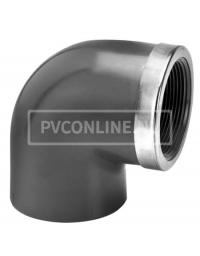 PVC KNIE 20 X 1/2 BINNENDRAAD PN 16