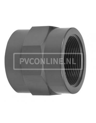 PVC DRAADSOK 16X 1/4 PN 16