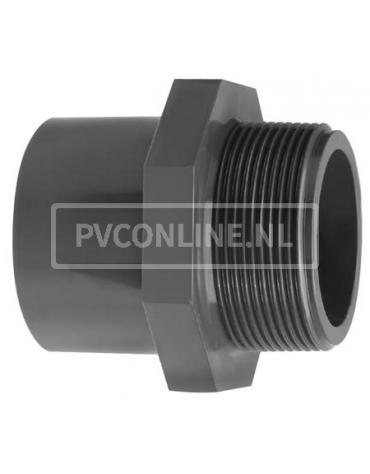 PVC INZETDRAADEIND 16 X 1/4 PN16