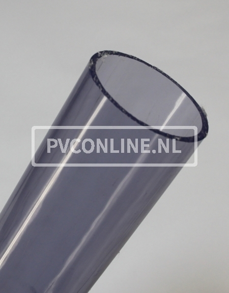 PVC BUIS TRANSPARANT 90mm X 4.3mm PN10 LENGTE 0,5 METER