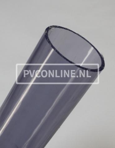 PVC BUIS TRANSPARANT 50mm X 2.4mm PN10 LENGTE 1,5 METER