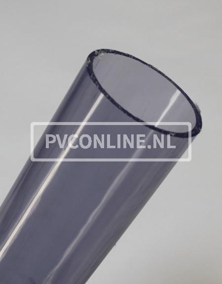 PVC BUIS TRANSPARANT 75mm X 3.6mm PN10 LENGTE 1,5 METER