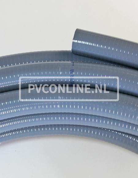 AQUASTAR PVC SLANG GRIJS 75 MM ROL 50M