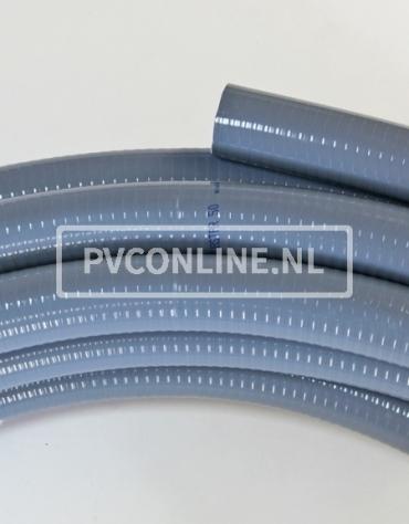 AQUASTAR PVC SLANG GRIJS 75 MM ROL 25M
