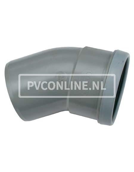 PVC BOCHT 1 X MA/S 125 30*