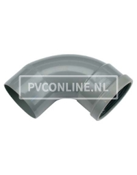 PVC BOCHT 1 X MA/S 125 90*