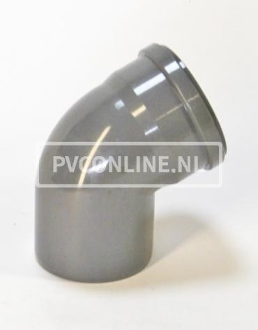 PVC BOCHT 1 X MA/S 250 KORT 45*