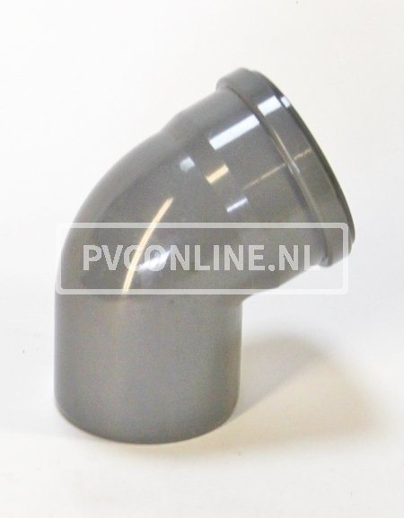 PVC BOCHT 1 X MA/S 315 KORT 45*