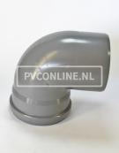 PVC BOCHT 1 X MA/S 400 KORT 90*
