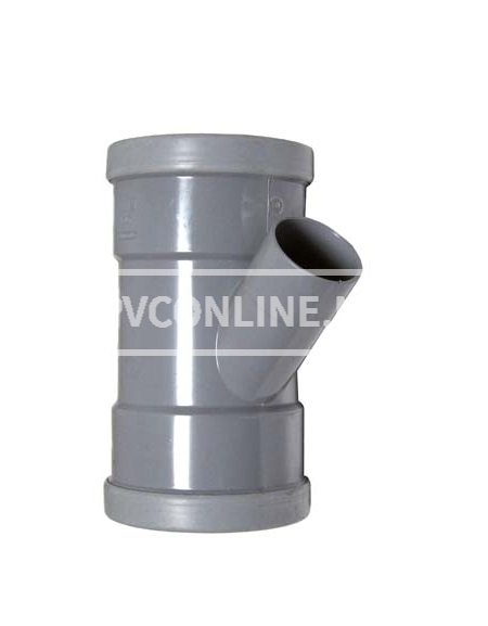 PVC T-STUK 2 X MA 110 X 50 45*