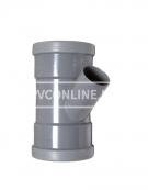 PVC T-STUK 2 X MA 110 X 75 45*