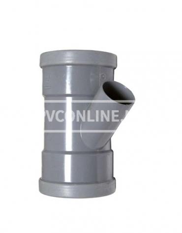 PVC T-STUK 2 X MA 125 X 75 45*