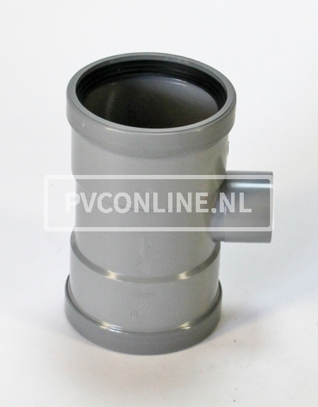 PVC T-STUK 2 X MA 125 X 75 90*