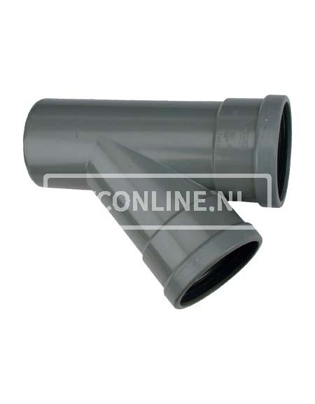 PVC T-STUK 2 X MA/S 125 X 125 45*
