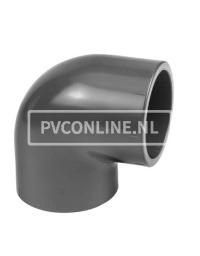 PVC VERLOOPKNIE 50 X 40 90* PN 10