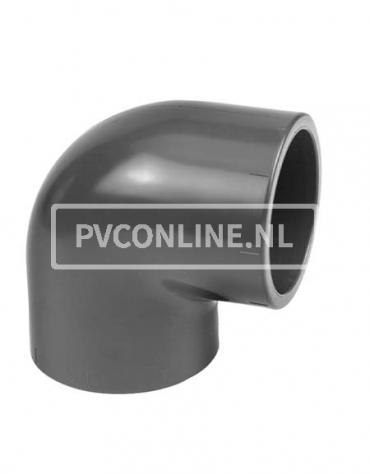 PVC KNIE 50 X 50 90* PN 16