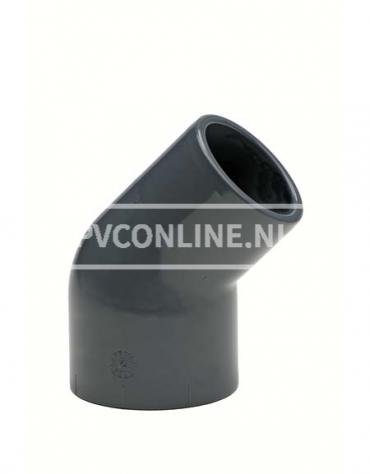 PVC KNIE SPIE 63-50 INW X 63 INW. 45* PN 10