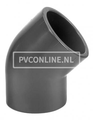 PVC KNIE 90 X 90 45* PN 16